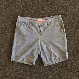 Merona Chambray Bermuda Style Shorts Size 10